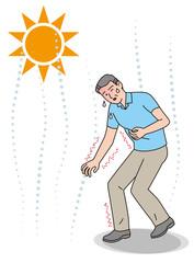 シニアの熱中症の症状