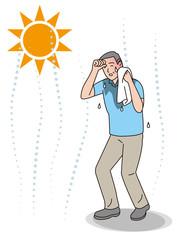 シニアの熱中症の症状 発汗