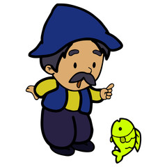 Tale  Old man and yellow fish