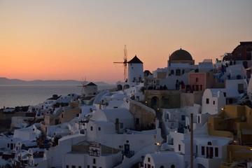 Fototapeta サントリーニ島の夕陽