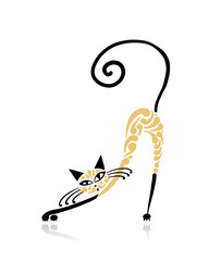 Siamese cat design. Vector illustration