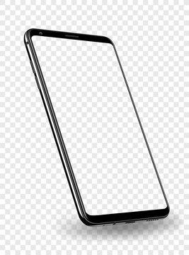 Smartphone mockup transparent screen