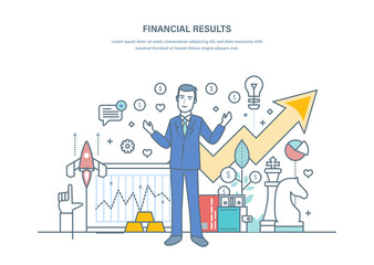 Financial results, successful business strategies, increased sales dynamics, commercial prosperity.