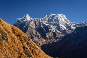 Mera peak, highest trekking peak in Everest region, Nepal Wall mural