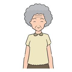vector of elder woman