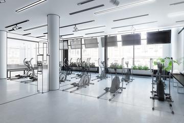 Crosstrainer im Fitness-Zenter (Illustration)