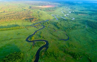 Canvas Prints Pistachio Summer aerial landscape