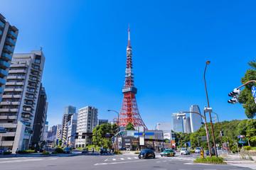 赤羽橋交差点の風景 Fototapete