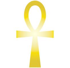 Ankh - Kreuz - Gold - Vektor