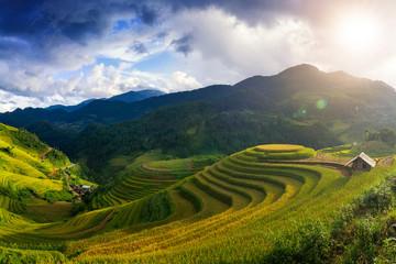 Fotobehang Rijstvelden Mu Cang Chai