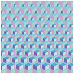 farbenfroher Hintergrund  mit Würfel