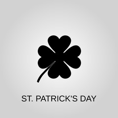 St. patrick's day icon. St. patrick's day symbol. Flat design. Stock - Vector illustration