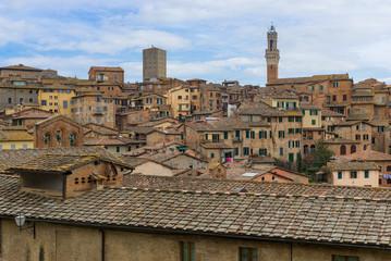 Panoramic view of Siena, Tuscany, Italy
