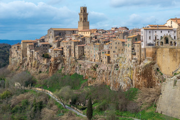 Panoramic view of Pitigliano, Tuscany, Italy
