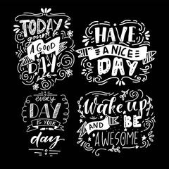Have a good day. Hand lettering vintage illustration