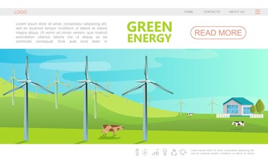 Flat Ecology Colorful Webpage Template