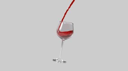 ... Vino rosso che viene versato in un bicchiere 54b6183b0f1c