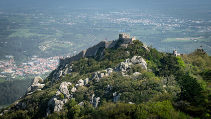 Castle of the Moors or Castelo dos Mouros is medieval castle by Moors in Sintra, Portugal