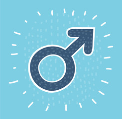 Male sex symbol circle icon
