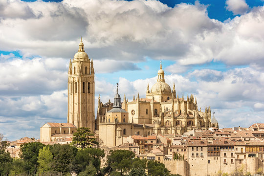 Cathedral of Segovia in Spain, late Gothic cathedral, and last gothic cathedral of Spain