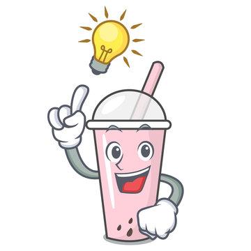 Have an idea raspberry bubble tea character cartoon