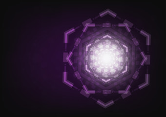 Abstract violet technology sci-fi background