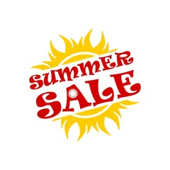 Summer sale sign, logo, icon