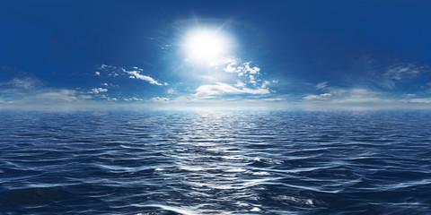 Meer, Sonne und wenig Wolken 360° Panorama