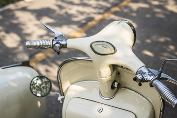 Tuinposter Scooter Closeup of a classic vintage scooter