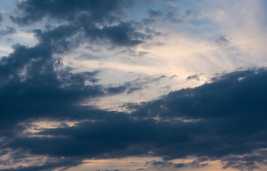 Dark and white clouds