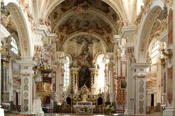 Basilika des Klosters Neustift bei Brixen in Südtirol Wall mural