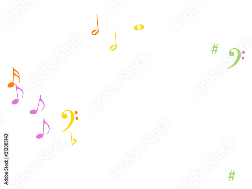 Music Notes Confetti Falling Chaos Vector Music Symbols Texture