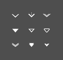 Arrow buttons down