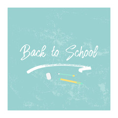 Back to School flat pastel colorful illustration. School education concept