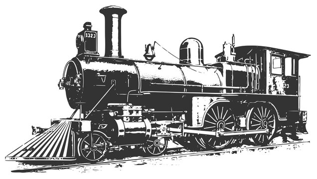 steam locomotive railway #vector #isolated - Lokomotive Lok