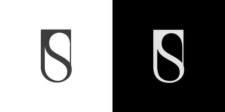 US, SU logo, monogram, vector