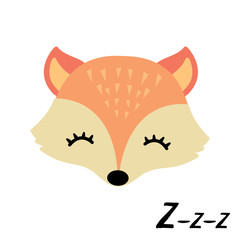 Cute little sleepy fox