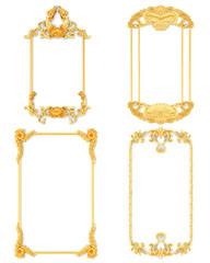Stucco decoration, gold cartouche