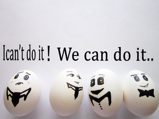 It is the eggs that show the importance of team work. Work life.success.