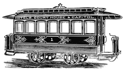 tram / streetcar #vector #isolated - Straßenbahn