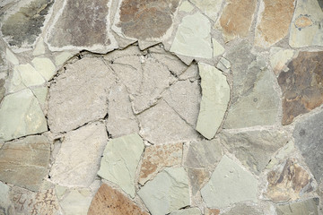 texture of a wall from a natural stone, background