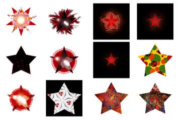 Dessin d'étoiles sous différentes formes graphiques