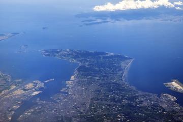 知和半島の航空写真