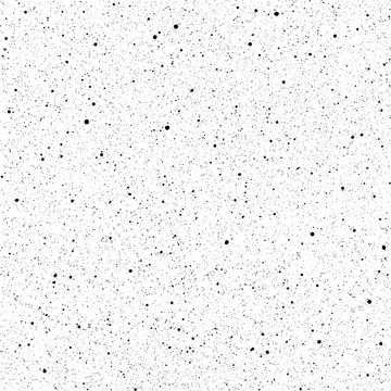Ink splatter seamless pattern. Grainy surface distress vector texture. Black paint spray blobs on white background
