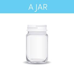 A wide-mouth Mason jar