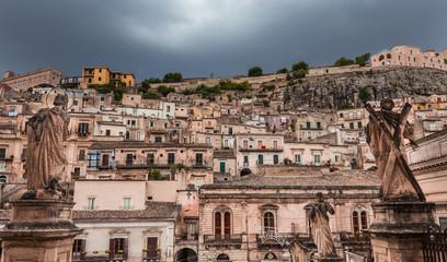 city of Modica, sicily, Italy
