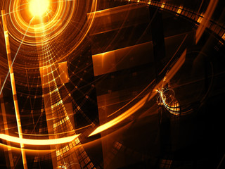 Abstract tech backdrop - digitally generated image