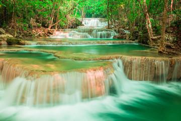 Wall Mural - waterfall at Huay Mae Kamin National Park in Thailand