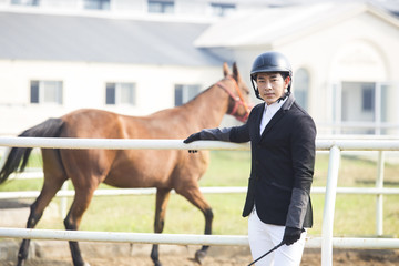 Portrait of Chinese male rider