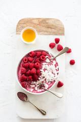 Raspberry vegan pudding